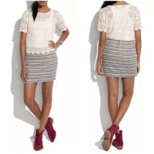 Madewell Crossweave Tweed Mini Skirt